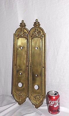 "Vintage/ Antique Solid Brass Plate Door lock 20"" By Atoinette"