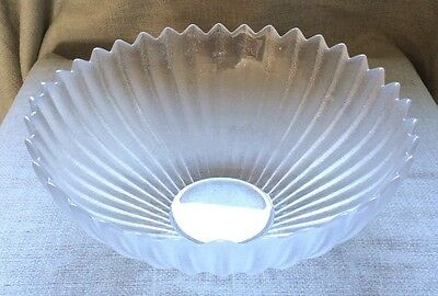 Beautiful Dartington Lead Crystal Frosted Lotus Bowl Bd1184