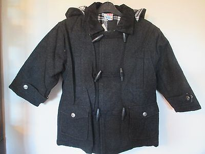 Child duffle coat by designer Chicaloo  size 4/5y 110cm grey