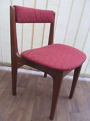 Retro Teak Dining Chair Curved Back Morris Of Glasgow Clyde Vintage Furniture