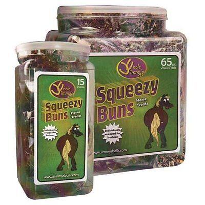 Uncle Jimmy's Squeezy Buns - 65 Pieces - Horse Equestrian Horse Treats