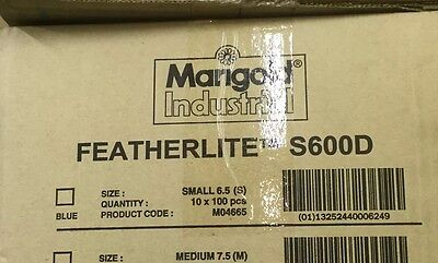 Marigold Featherlite Rubber Gloves Box/100 Size Large