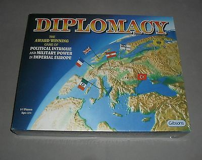 Diplomacy Strategy War Political Board Game Gibsons Games SEALED COMPLETE RARE