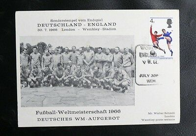 Timbres D'angleterre Sur Le Theme Du Football World Cup 1966 Allemagne / Gb