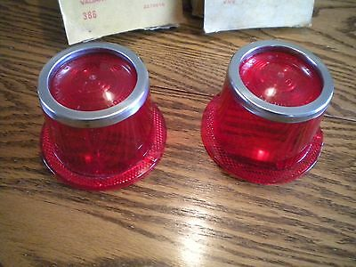 NEW pair 62 PLYMOUTH VALIANT TAIL AND BACK-UP LENSES.