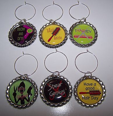 Hairstylist Wine Glass Charms / Hairstylist Drink Markers / Great Gift Idea!