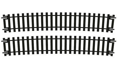 """R628 Hornby Curve Track x2 For Use With """"Y"""" Points 11.25 Degrees 852mm OO Gauge"""