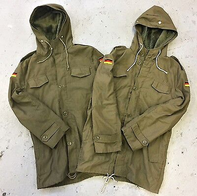 VINTAGE WHOLESALE 20 x GERMAN ARMY PARKAS MILITARY FUR LINED COAT JACKET