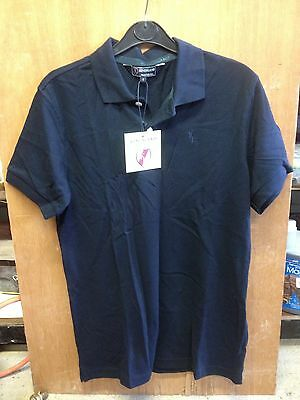 Kingsland Equestrian Clothing Classic Mens Polo Shirt Navy Small