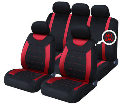 FORD FOCUS NEW SHAPE Red Carnaby Luxury Full Set Car Seat Covers