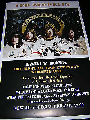 Original Led Zeppelin Promotional Poster - Early Days - The Best Of