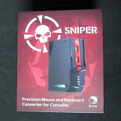 Brand New Brook Sniper Mouse & Keyboard Converter to for PS4 PS3 XBOX One 360