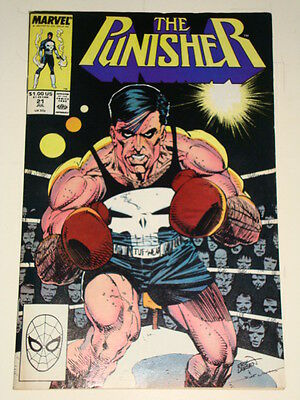 Marvel Punisher Issue # 21 July 89 'the Boxer' Good Condition