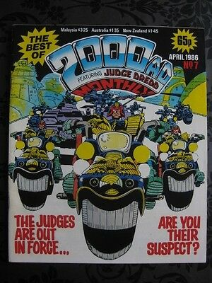 The Best Of 2000 AD Featuring JUDGE DREDD Monthly April 1986