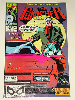Marvel Punisher Issue # 35 July 90 'jigsaw Puzzle' Good Condition
