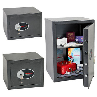 Phoenix Lynx Security Safe with Key Lock Home Office Safes SS1170 Series