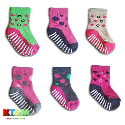 Baby Girl Toddler ABS Anti Non Slip Half Terry Cotton Socks 9 months to 3years