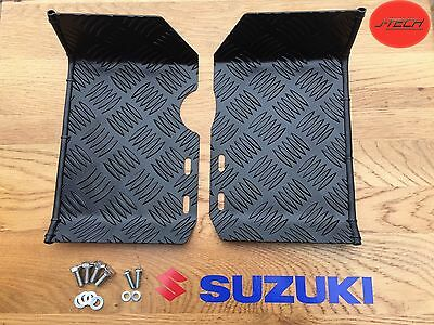 Suzuki LT50 Foot Plates / Rests / Ankle Protectors. Nerf Bars. MATT BLACK