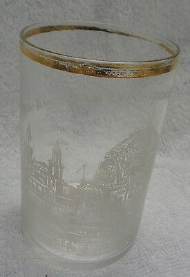 1901 Pan-American Exposition Buffalo Temple of Music Drinking Glass