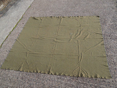 #FF1 - US ARMY WW2 GI Wool virgin Blanket OD Wolldecke Winter Decke 1,7 x 2,20m