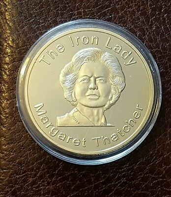 24k gold plated iron lady coin.