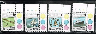 (12-782) 4 Mint Lloyd's List  Postage sTamps from Belize