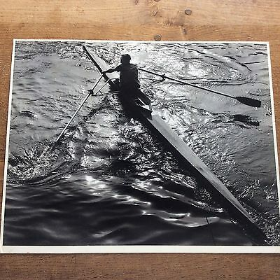Superb Vintage 1993 B/W Photograph Rowing on the Ouse Photo Dr KW Shanks York