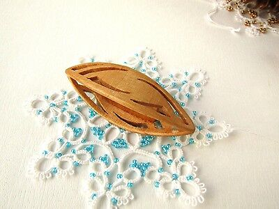 Handmade Wooden Tatting Shuttle