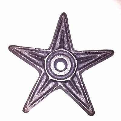 Set of 8pcs-Cast Iron Architectural Star-6 3/8 Wide-DEFECTS