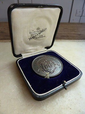 Commemorative coin by Mappin & Webb in case Haileybury College 1931