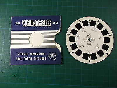 VIEWMASTER REEL No. 66 The Orchid Island Hawaii  7 3D PICTURES in FULL-COLOR