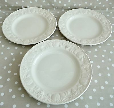 SET OF 3 BHS BARRATTS 'LINCOLN' LARGE TEA PLATES 20.5cm- FANTASTIC CONDITION