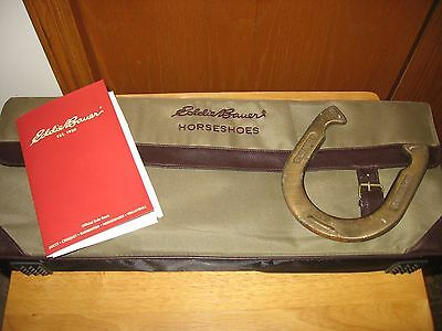Eddie Bauer Horseshoes Set with Bag and Rule Book
