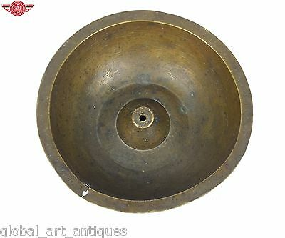 Antique indo Islamic brass magic deviation hand calligraphy holy bowl. G3-25
