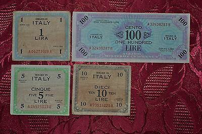 Allied Military Currency & French Franc banknotes collection