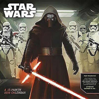 Star Wars Episode VII  2016 Wall Calendar New