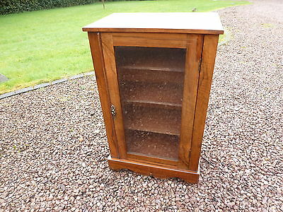 Antique Inlaid Edwardian Music Cabinet Book Case