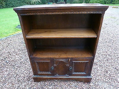 Oak Open Bookcase With Carved Detail