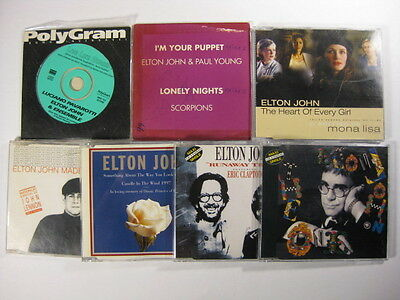 Elton John collection of 7 BRAZIL CD singles out of print RARE
