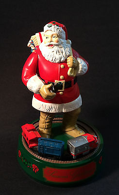 ERTL Coca Cola Santa Clause w/Train Operating Mechanical Coin Bank - Free Ship