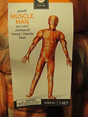 MUSCLE MAN WOMEN HALLOWEEN COSTUME Jump SUIT ~ NEW ~ YOUTH Medium