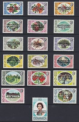 DOMINICA 1978 Independence set ~ Unmounted MINT ~ MNH sg632-649