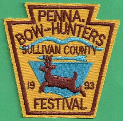 Pa Pennsylvania Fish Game Commission 1993 Sullivan Co Bowhunters Festival Patch