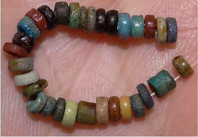 30 Ancient Egyptian Faience Mummy Beads, 2500+Years Old, 2-3mm, #M221