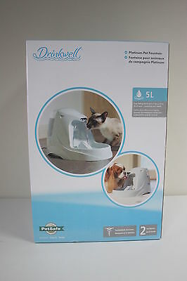 New - PetSafe Drinkwell Platinum Pet Fountain - For Cats & Dogs