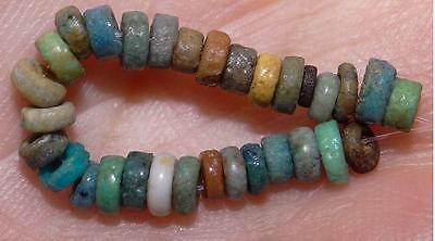 30 Ancient Egyptian Faience Mummy Beads, 2500+Years Old, 2-3mm, #M222