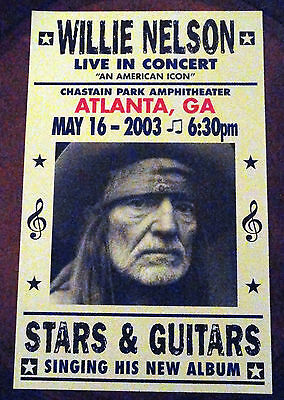 WILLIE NELSON MAY 16 2003 ATLANTA GA CONCERT POSTER  1 of 100