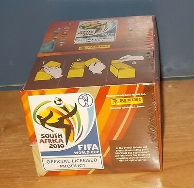 Panini World Cup 2010 Stickers Sealed Box of 100 packets