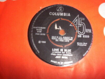 """Jeff Beck """"Love Is Blue bw I've Been Drinkin' excellent Columbia DB 8359"""