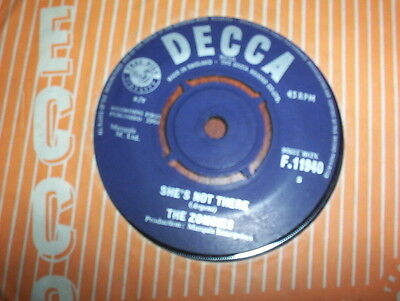 """The Zombies """"She's Not There bw You Make me Feel Good"""" excellent Decca"""